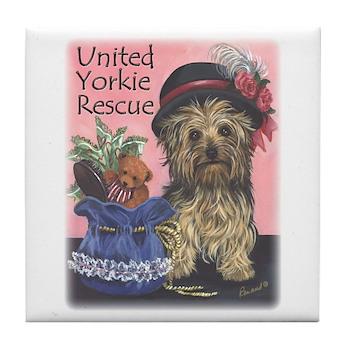 United Yorkie Rescue Tile Coaster
