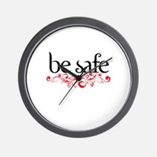 Be Safe Wall Clock