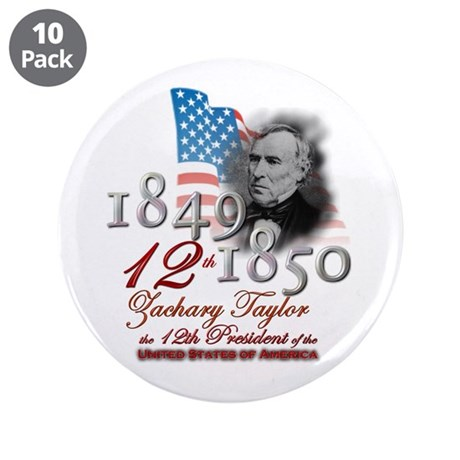 """12th President - 3.5"""" Button (10 pack)"""