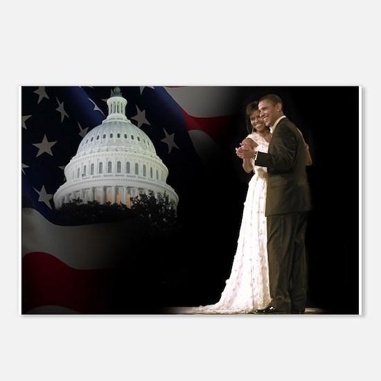 Inaugural Ball, Barack Michelle Obama Postcards (P