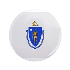 "Beloved Massachusetts Flag Mo 3.5"" Button"