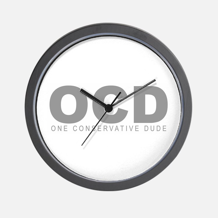 """One Conservative Dude"" Wall Clock"