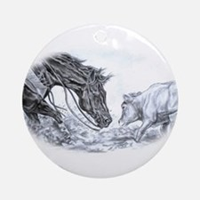 Cutting Horse Ornament (Round)