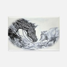 Cutting Horse Rectangle Magnet
