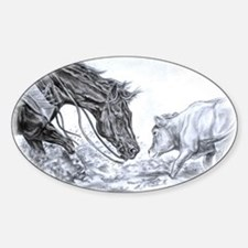 Cutting Horse Oval Decal