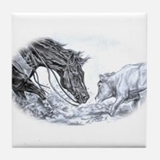 Cutting Horse Tile Coaster