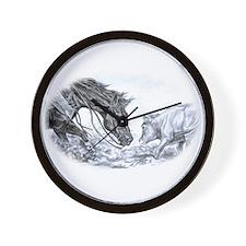 Cutting Horse Wall Clock