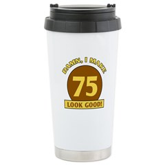 75th Birthday Gag Gift Travel Mug