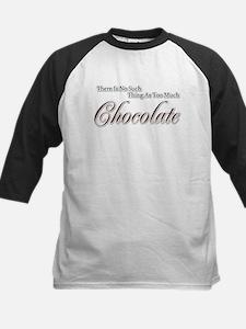 Chocolate Saying Kids Baseball Jersey