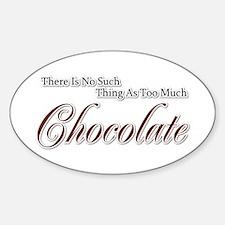 Chocolate Saying Oval Decal