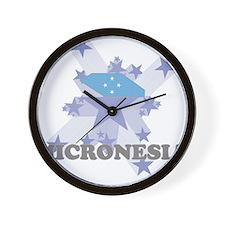 All Star Micronesia Wall Clock