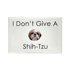 I Don't Give A Shih Tzu Rectangle Magnet (100 pack