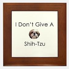 I Don't Give A Shih Tzu Framed Tile