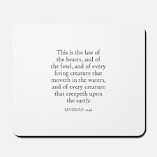 LEVITICUS  11:46 Mousepad