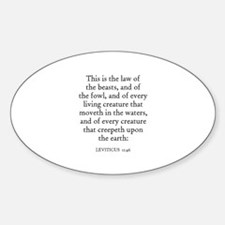 LEVITICUS 11:46 Oval Decal