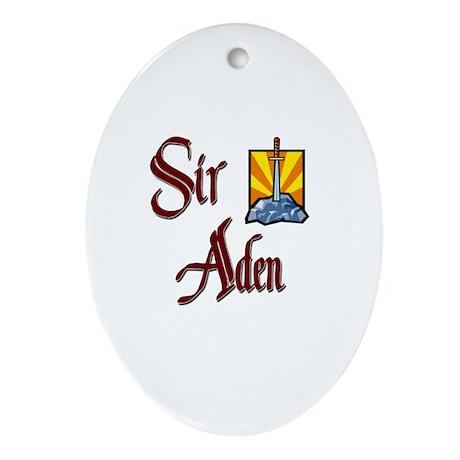 Sir Aden Oval Ornament