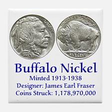 Buffalo Nickel Tile Coaster