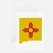 New Mexico Stripe Custom Desi Greeting Card
