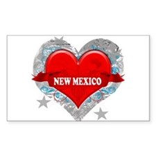 My Heart New Mexico Vector St Rectangle Sticker 1