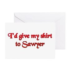 I'd Give My Shirt to Sawyer Greeting Cards (Pk of