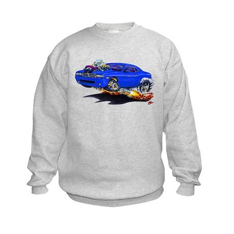 Challenger Blue Car Kids Sweatshirt