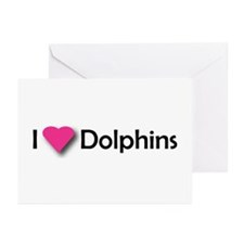 I LUV DOLPHINS! Greeting Cards (Pk of 10)