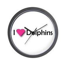 I LUV DOLPHINS! Wall Clock