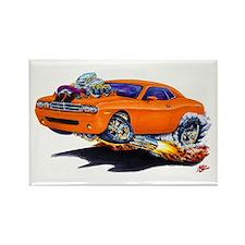 Challenger Orange Car Rectangle Magnet
