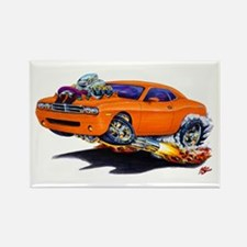 Challenger Orange Car Rectangle Magnet