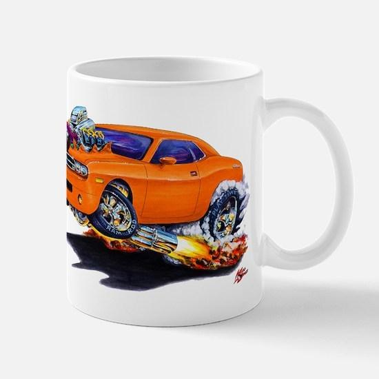 Challenger Orange Car Mug