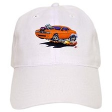 Challenger Orange Car Baseball Cap