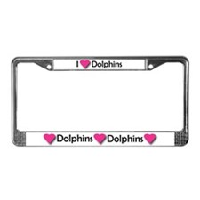 I LUV DOLPHINS! License Plate Frame