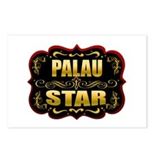 Palau Star Gold Badge Seal Postcards (Package of 8