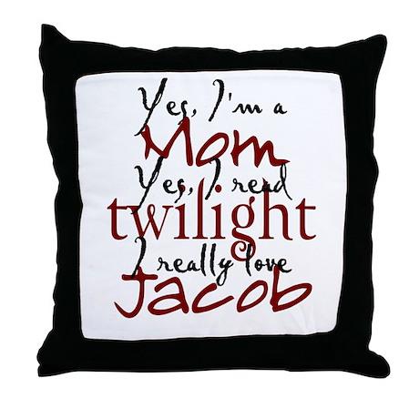Jaocb Twilight Mom 2 Throw Pillow