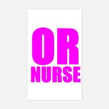 Bold RN pink Rectangle Decal
