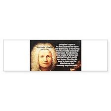 Classical Music: Vivaldi Bumper Bumper Sticker