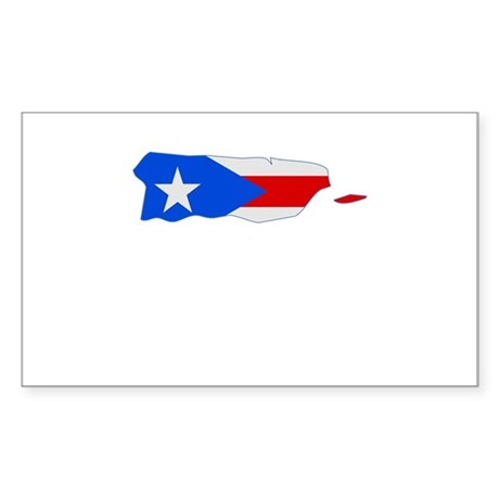 Puerto Rico Stripe Custom Des Rectangle Sticker