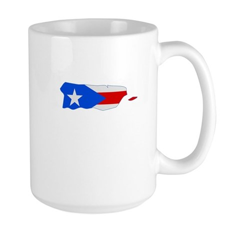 Puerto Rico Stripe Custom Des Large Mug