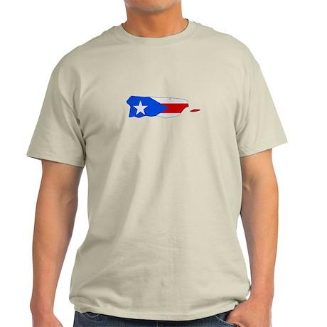 Puerto Rico Stripe Custom Des Light T-Shirt