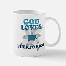 God Loves Puerto Rico Mug