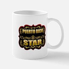 Puerto Rico Star Gold Badge S Mug