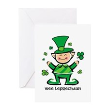 Wee Leprechaun Greeting Card