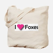 I LUV FOXES Tote Bag
