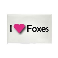 I LUV FOXES Rectangle Magnet