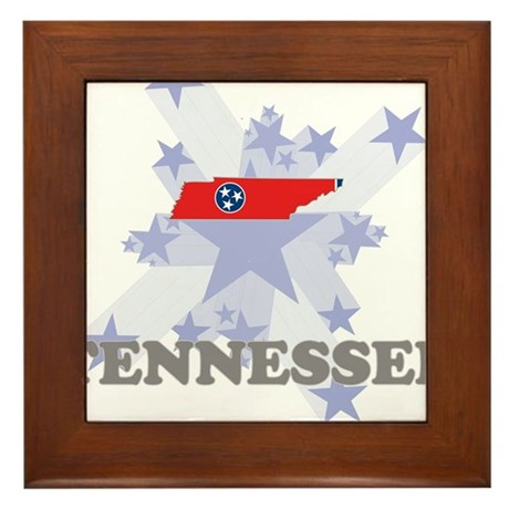 All Star Tennessee Framed Tile