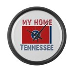 My Home Tennessee Vintage Sty Large Wall Clock