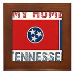 My Home Tennessee Vintage Sty Framed Tile