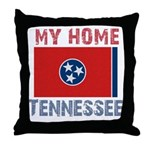 My Home Tennessee Vintage Sty Throw Pillow