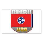 Tennessee USA Crest Rectangle Sticker 10 pk)