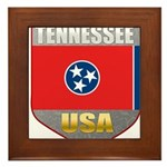 Tennessee USA Crest Framed Tile